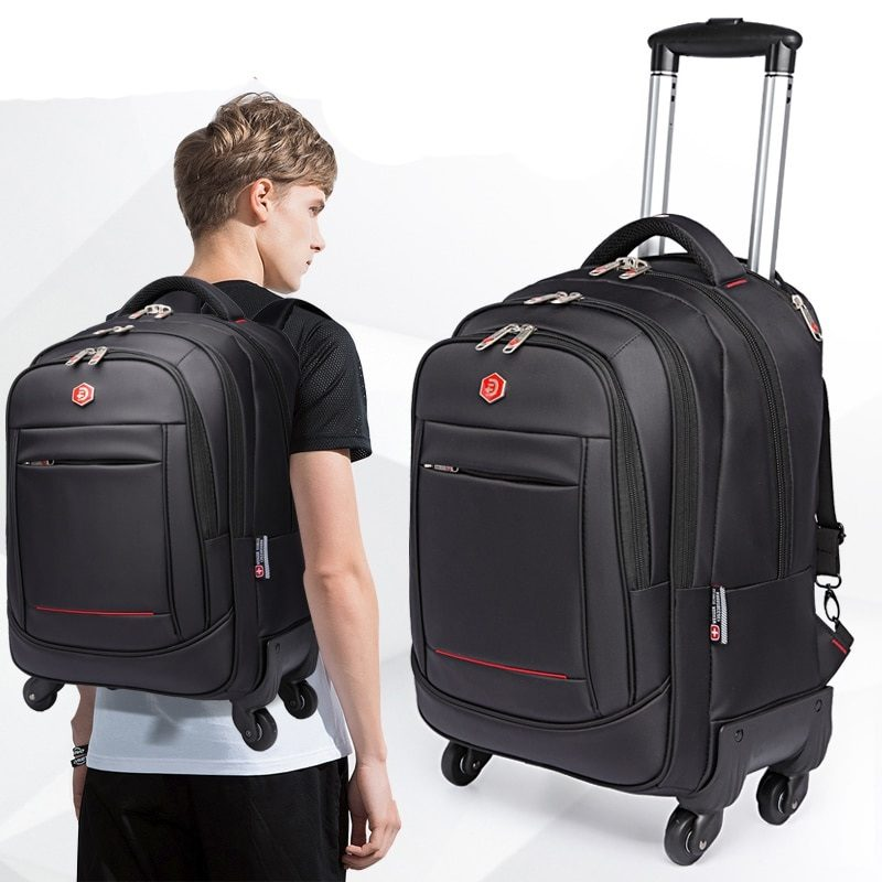 Bag - suitcase or bag - cart? Which laptop case is better?
